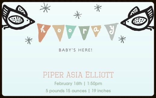 Piper Asia Elliott is Here!